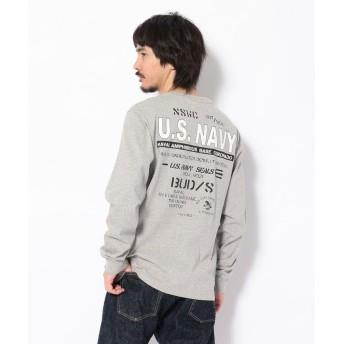 アヴィレックス USネイビークルーネックTシャツ/US NAVY PRINT T SHIRT メンズ OXFORD XXL 【AVIREX】