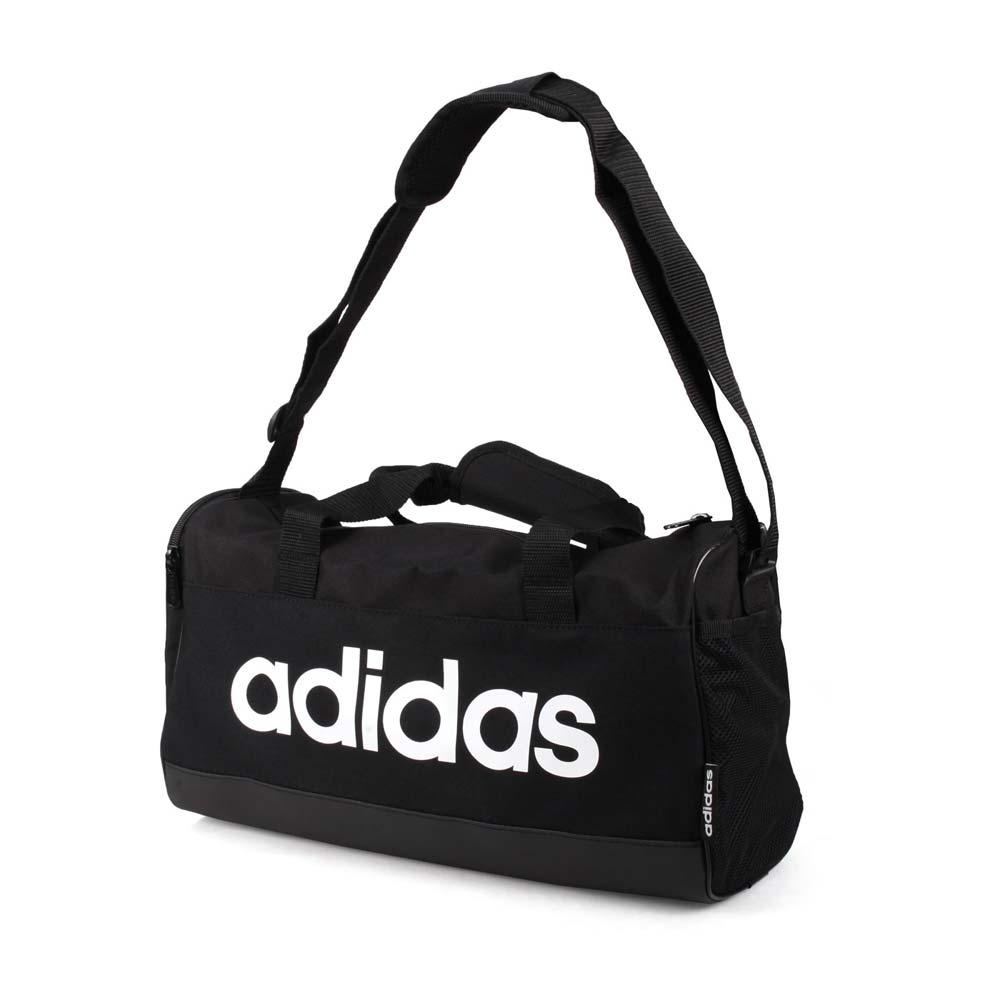 ADIDAS 中型旅行袋-行李袋 手提袋 健身袋 愛迪達 黑白 F