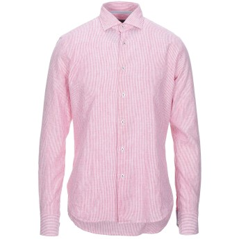 《セール開催中》ENZO FELDINI メンズ シャツ レッド 40 リネン 55% / コットン 45%