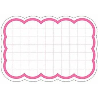 タカ印 ポップ用紙 抜型カード 波四角特 大 30枚[16-4490](ピンク)