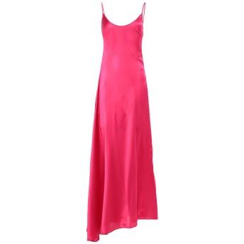 《セール開催中》FEDERICA TOSI レディース ロングワンピース&ドレス フューシャ 38 シルク 94% / ポリウレタン 6%