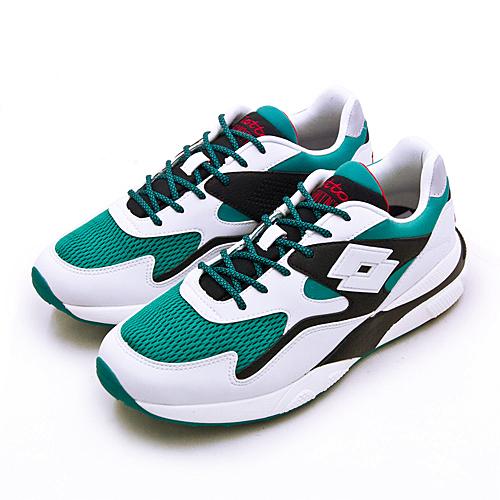 LIKA夢 LOTTO 經典厚底復古多功能運動鞋 SIRIUS 老爹鞋系列 白綠黑 1215 男