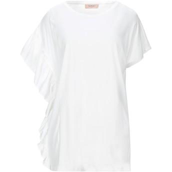 《セール開催中》TWINSET レディース T シャツ ホワイト XS コットン 100% / レーヨン / シルク