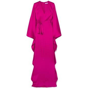 《セール開催中》SAFIYAA レディース ロングワンピース&ドレス フューシャ 34 シルク 100%