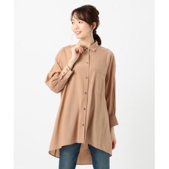 (SHARE PARK/シェアパーク)フレアチュニックシャツ/レディース ブラウン系