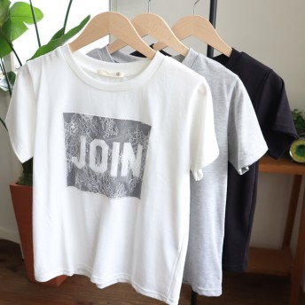 Tシャツ - jack-o'-lantern tシャツ レディース 半袖 ロゴ カジュアル おしゃれ 丸首 フェミニン かわいい レース