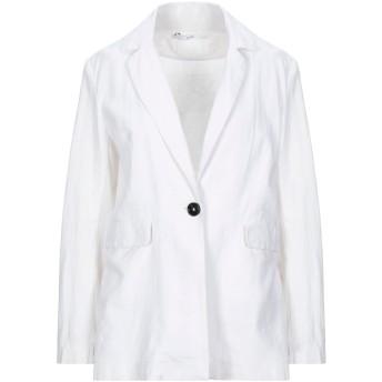 《セール開催中》GAZEL レディース テーラードジャケット ホワイト 44 リネン 55% / コットン 45%