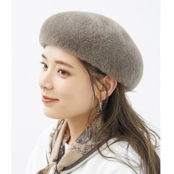 【ロペピクニック/ROPE' PICNIC】 エコシャギーベレー帽