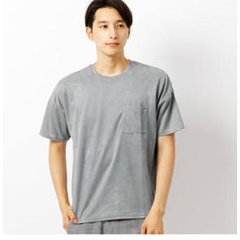 新規会員登録で3,000円OFF!【COMME CA ISM:トップス】フェイク スエード Tシャツ