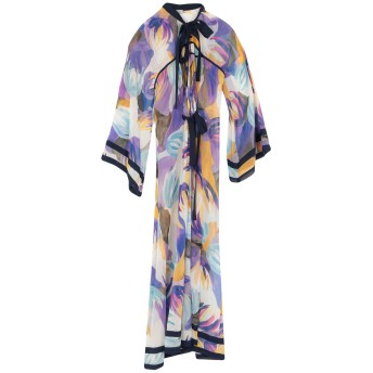 《セール開催中》TALITHA レディース ロングワンピース&ドレス パープル S/M シルク 100%