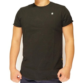 G-STAR RAW[ジースターロウ] Lash T-Shirt Tシャツ 半袖 メンズ D16396-B353-6484DkBlack-S