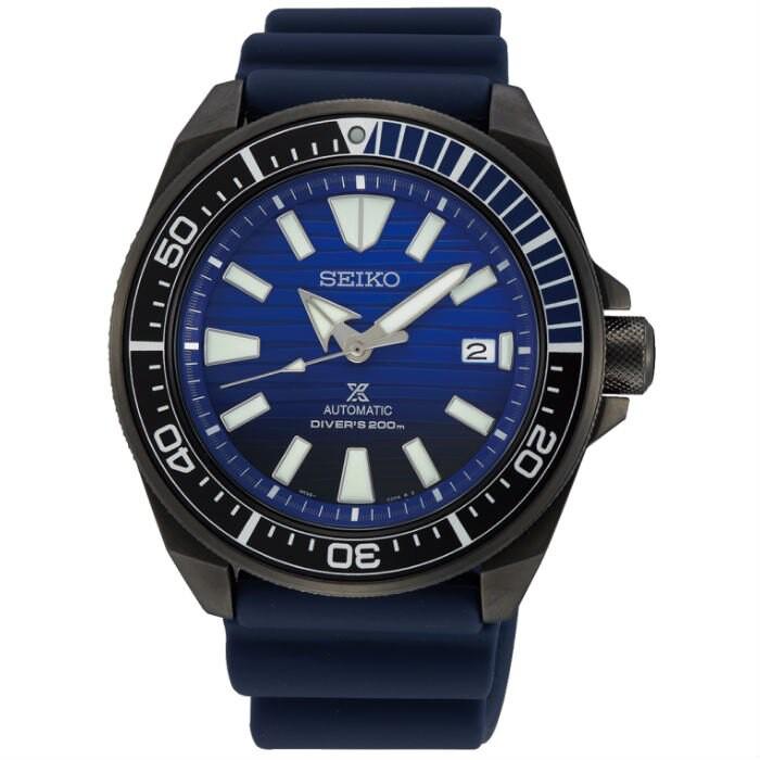 Seiko 精工錶 4R35-01X0A(SRPD09J1) DIVER SCUBA 男士潛水機械腕錶/黑藍 43.8m