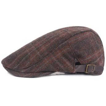 ウールベレー帽キャップ格子縞の秋暖かいカジュアル通気性のベレー帽