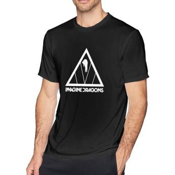 Tシャツ イマジン ドラゴンズ ポケットTシャツ クルーネック メンズ 半袖 服 カジュアル 綿100% 柔らかい 大きい サイズ ゆったり おしゃれ ファッション 快適 耐久性 男女兼用