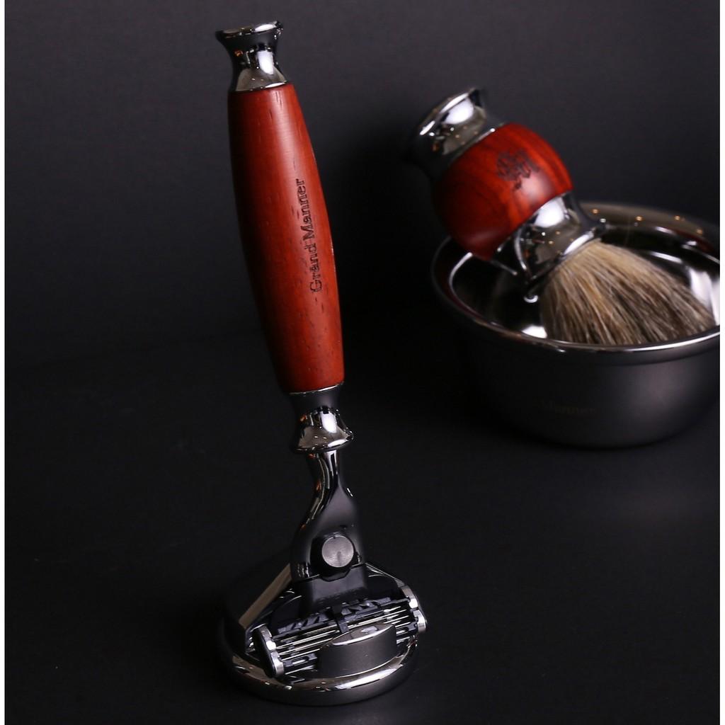 英國 Grand Manner 刮鬍刀(紅檀木 / 鋒速3 Mach3)聖誕節 生日 父親節 情人節 交換禮物 送禮
