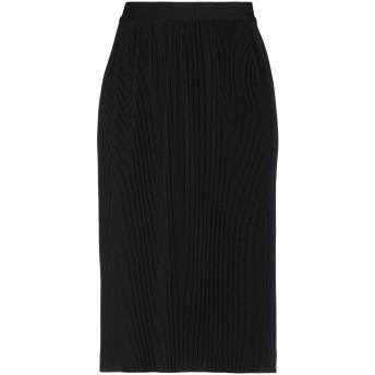 《セール開催中》LIVIANA CONTI レディース ひざ丈スカート ブラック 40 ポリエステル 100%
