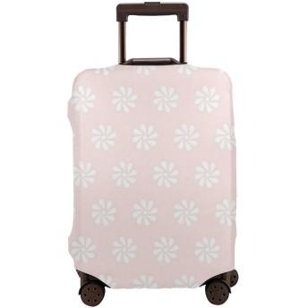 背景の花 スーツケースカバー バッグ保護カバー 荷物カバー 伸縮素材 出張旅行便利 丈夫 盗難防止 防塵カバー(4サイズ)