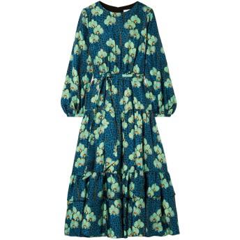 《セール開催中》BORGO DE NOR レディース 7分丈ワンピース・ドレス ブルー 6 シルク 100%