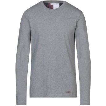 《セール開催中》BIKKEMBERGS メンズ T シャツ グレー XS コットン 100%