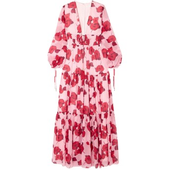 《セール開催中》BORGO DE NOR レディース ロングワンピース&ドレス ピンク 12 シルク 100%