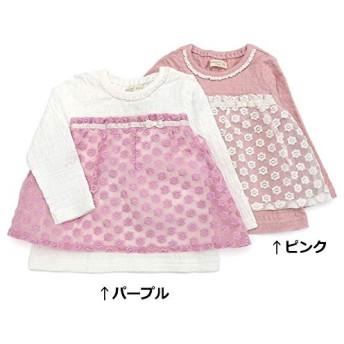 Biquette Club (ビケットクラブ) 長袖Tシャツ (80~130cm) キムラタンの子供服 (10009-191a) ピンク 80