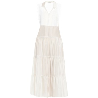 《セール開催中》SANDRO レディース ロングワンピース&ドレス ホワイト 36 レーヨン 100% / コットン / ポリエステル