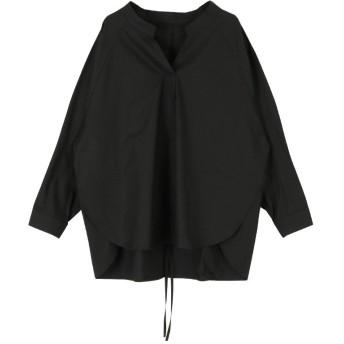 (miette/ミエット)バックドロストスキッパーワイドシャツ〔メール便可/100〕/レディース ブラック