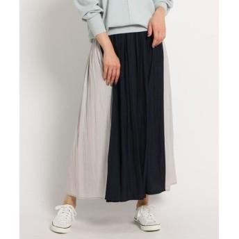 Dessin/デッサン 【XS~Lサイズあり・洗える】パウダーサテン切り替えスカート ネイビー(593) 03(L)