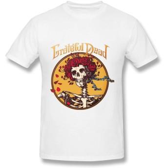 Tシャツ インナーシャツ 半袖シャツ 半袖 メンズ カットソー 綿100% アンダーシャツ グレイトフル デッド プリント カジュアル ファッション 肌着 吸汗速乾 柔らかい 黒/グレー/白/レッド/オレンジ/ネイビー