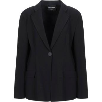 《セール開催中》GIORGIO ARMANI レディース テーラードジャケット ブラック 48 バージンウール 96% / ポリウレタン 4%