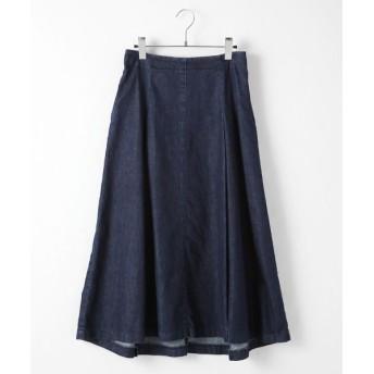 TABASA/タバサ デニムタック入りAラインスカート インディゴ M
