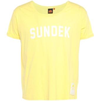 《セール開催中》SUNDEK メンズ T シャツ イエロー M コットン 100%