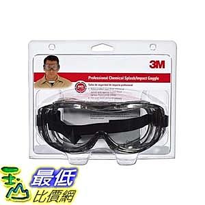 [9美國直購] 護目鏡 3M 防疫眼罩 91264-80025 Chemical Splash/Impact Goggle, 1-Pack