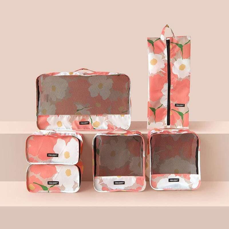 都市之森 樹-旅行收納袋6件組 (印花色) 綠絨蒿