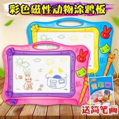 (交換禮物)磁性彩色大號寫字板寶寶幼兒園涂鴉畫畫板家用畫寫板玩具Y-優思思