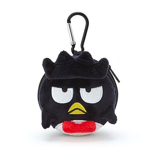 〔小禮堂〕酷企鵝 迷你造型耳朵絨毛硬殼收納包《黑白》掛飾.耳機收納盒 4901610-07521