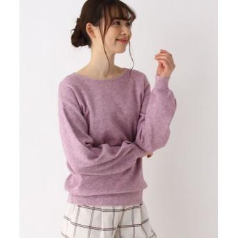 pink adobe/ピンクアドベ <WEB限定・LLサイズあり>もっちりボートネックニット ベビーピンク(071) 40(L)
