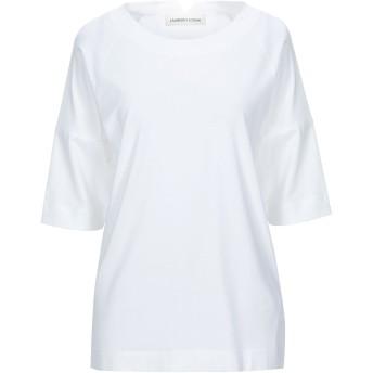 《セール開催中》LAMBERTO LOSANI レディース T シャツ ホワイト 38 コットン 92% / ポリウレタン 8%