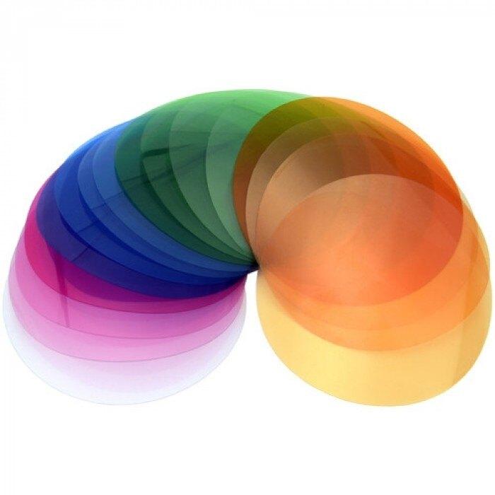 ◎相機專家◎ Godox 神牛 V1-11T V1 閃光燈 AD200 圓燈頭色片組 15色套裝 每色2張 開年公司貨
