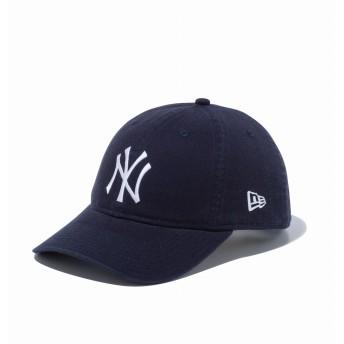NEW ERA ニューエラ 9THIRTY クロスストラップ ウォッシュドコットン ニューヨーク・ヤンキース ネイビー × ホワイト アジャスタブル サイズ調整可能 ベースボールキャップ キャップ 帽子 メンズ レディース 56.8 - 60.6cm 12489158 NEWERA