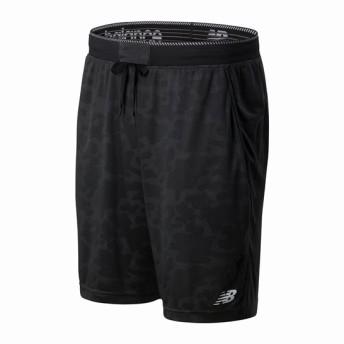 (NB公式)【ログイン購入で最大8%ポイント還元】 メンズ 574S ライトウェイトニットショートパンツ (ブラック) トレーニング スポーツウェア / 短パン ハーフパンツ ショートパンツ ニューバランス newbalance