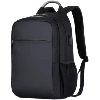 ビジネスラップトップバックパック、ユニセックスバックパック学生バックパック、旅行屋外バック大容量バッグUSB充電、シンプルな旅行バッグ大