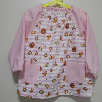 子供スモック ️100~110サイズ どうぶつ柄 ピンク