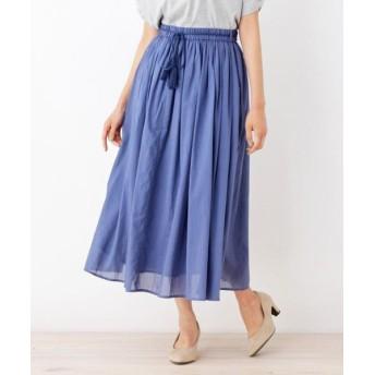 SHOO・LA・RUE/シューラルー 【WEB限定サイズあり】インド綿ボリュームマキシスカート ブルー(092) 02(M)