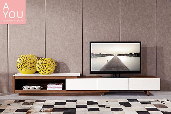 德莫6.75~9.2尺伸縮三抽電視櫃(大台北地區免運費)【阿玉的家2020】