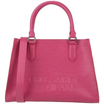 《セール開催中》TRUSSARDI JEANS レディース ハンドバッグ フューシャ ポリエステル 100% / ポリウレタン樹脂
