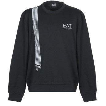 《セール開催中》EA7 メンズ スウェットシャツ ブラック XS コットン 100% / ポリウレタン