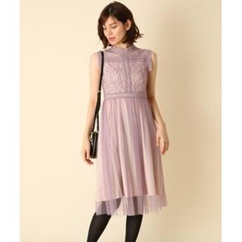 【Couture brooch:ワンピース】Dorry Doll(ドリードール)レースチュールミモレドレス