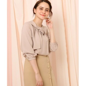 Couture Brooch/クチュールブローチ リボンデザインブラウス ベビーピンク(071) 38(M)