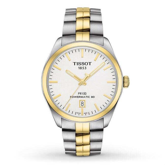 TISSOT 天梭 T1014072203100 PR100 Powermatic 80 經典機械腕錶-金 39mm